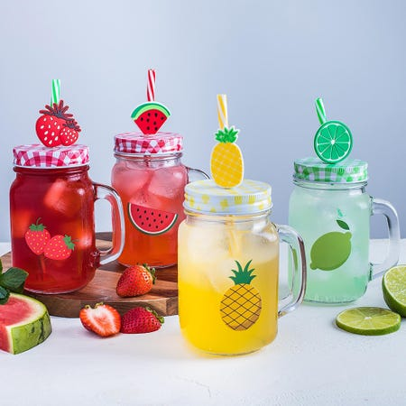 95699_KSP_Fruit_Fun_Glass_Mason_Drinking_Jar___Set_of_4__Multi_Colour