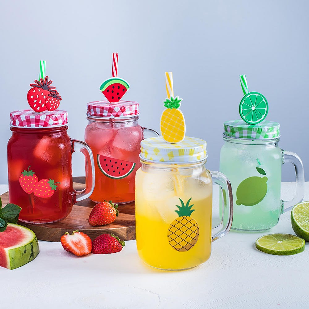 95699_KSP_Fruit_Fun_Glass_Mason_Drinking_Jar___Set_of_4__Multi_Colour