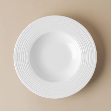 95717_KSP_A_La_Carte_'Rings'_Porcelain_Soup__Pasta_Plate__White