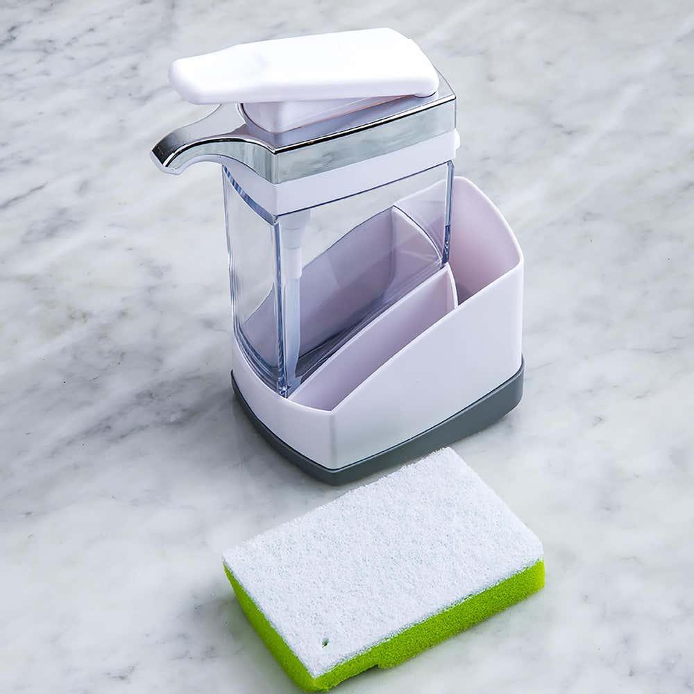 95767_Casabella_Sink_Sider_Soap_Dispenser_with_Sponge__White_Grey