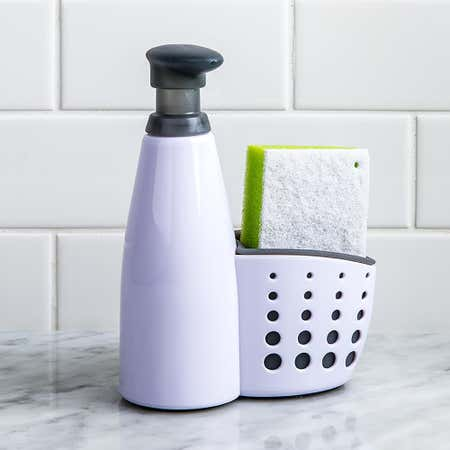 95770_Casabella_Sink_Sider_Soap_Dispenser_with_Sponge__White_Grey