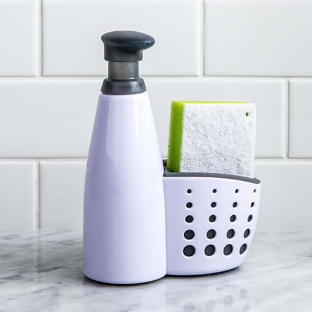 95770_Casabella_Sink_Sider_Soap_Dispenser_with_Sponge__White_Grey