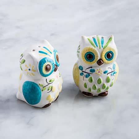 95867_Boston_Warehouse_Flea_Market_'Floral_Owl'_Salt_and_Pepper_Shaker