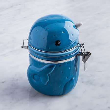 95910_Boston_Warehouse_Flea_Market_'Narwhal'_Ceramic_Jar__Blue