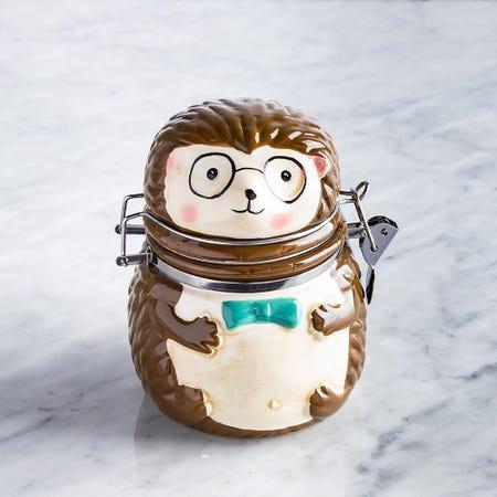 95997_Boston_Warehouse_Flea_Market_Shaped_'Hedgehog'_Ceramic_Jar