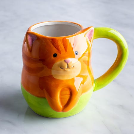 96030_Boston_Warehouse_Flea_Market_Shaped_'Tiger_Pur_Maid'_Ceramic_Mug__Multi_Colour