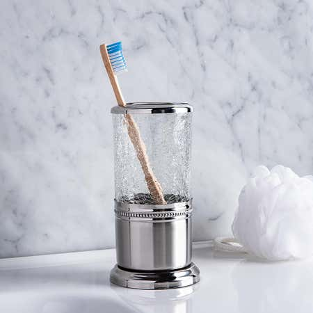 96093_Moda_At_Home_Cracked_Glass_Toothbrush_Holder__Clear_Chrome