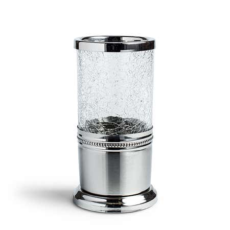 96094_Moda_At_Home_Cracked_Glass_Tumbler__Clear_Chrome