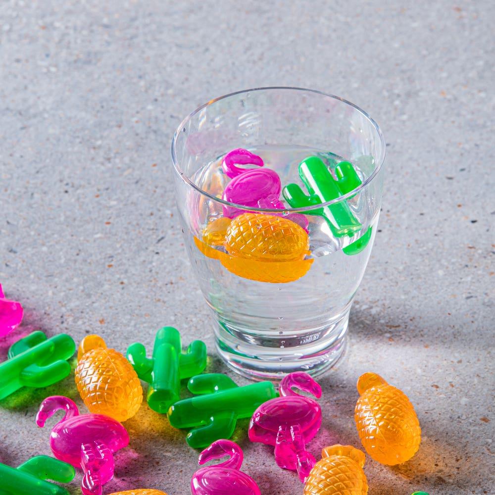 Sunny Dayz Tropical Reusable Ice Cube Mold - Set of 24 (Multi Colour)