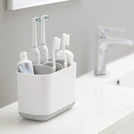 96186_Joseph_Joseph_Smart_Bath_Toothbrush_Holder_Caddy__White_Grey