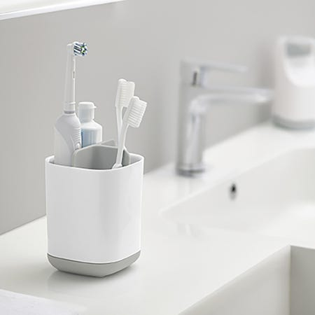 96187_Joseph_Joseph_Smart_Bath_Toothbrush_Holder_Caddy__White_Grey
