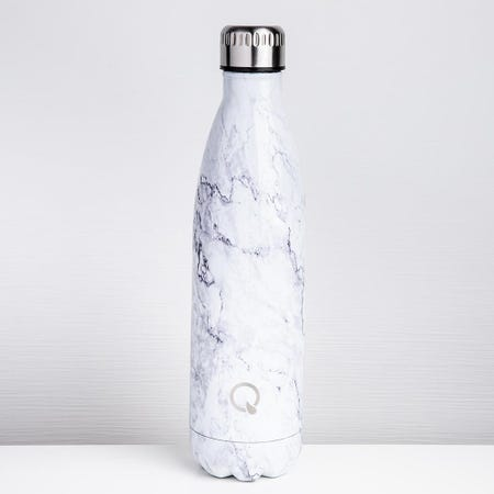 96234_KSP_Quench_'Marble'_750ml_Double_Wall_Water_Bottle__White