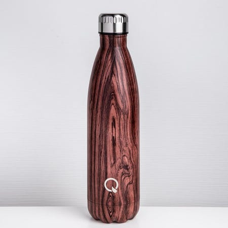 96237_KSP_Quench_'Wood_Look'_750ml_Double_Wall_Water_Bottle__Cherry