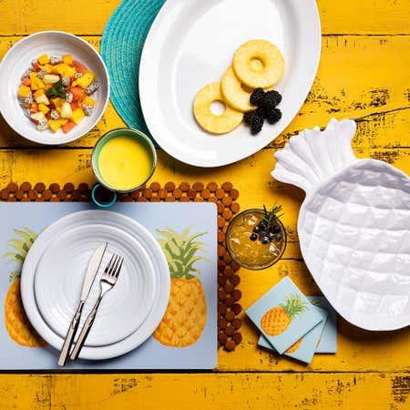96457_KSP_Pineapple_Melamine_Serving_Tray__White