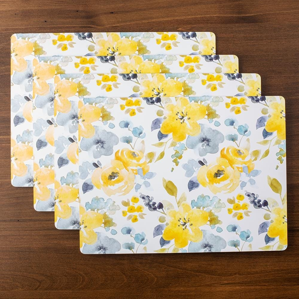 96528_Harman_'Floral'_Cork_Backed_Placemat___Set_of_4