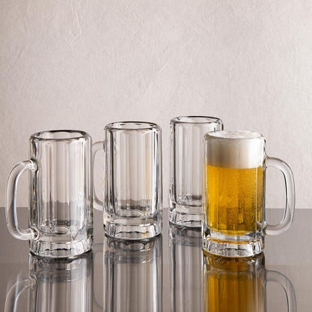 96810_Libbey_Heidelberg_Traditional_Beer_Mug_with_Handle___Set_of_4__Clear