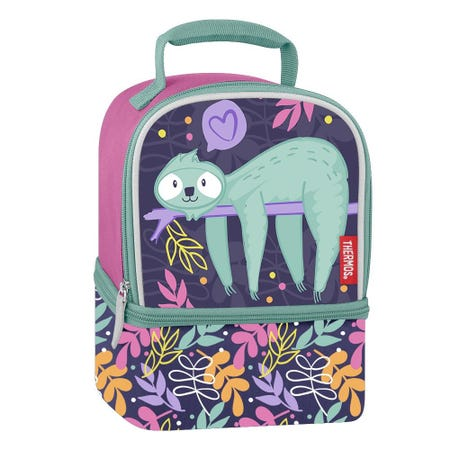 96998_Thermos_Dual_'Sleeping_Sloth'_Insulated_Lunch_Bag__Multi_Colour