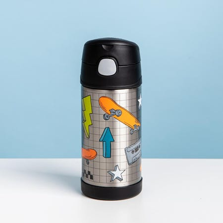 97007_Thermos_'Skater'_Insulated_Sport_Bottle_with_Straw__Grey_Orange_Blue