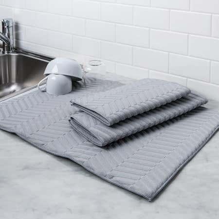 97154_Harman_Well_Kept_'Sculpted'_Dish_Drying_Mat_Combo_Set___Set_of_3__Grey