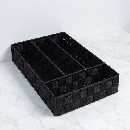 97235_ITY_Woven_Nylon_'Large'_Drawer_Organizer__Black