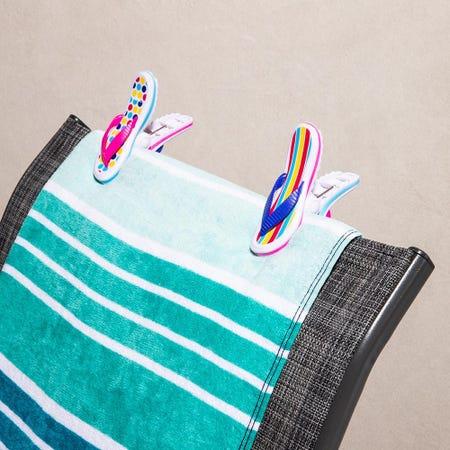 97253_O2cool_Boca_'Flip_Flop'_Decorative_Towel_Clip___Set_of_2