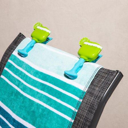 97254_O2cool_Boca_'Margarita'_Decorative_Towel_Clip___Set_of_2__Multi_Colour