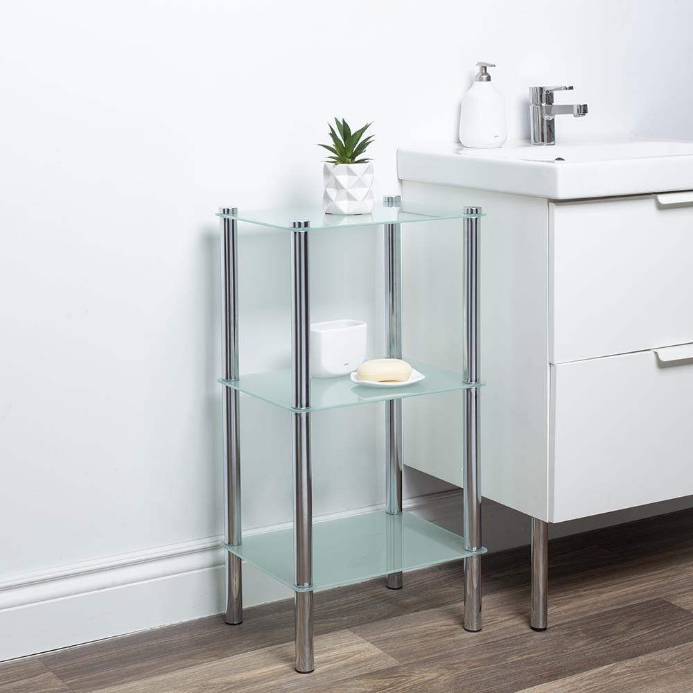 97285_ITY_Space_Logic_'3_Tier'_Glass_Shelf_Unit__Frosted_White