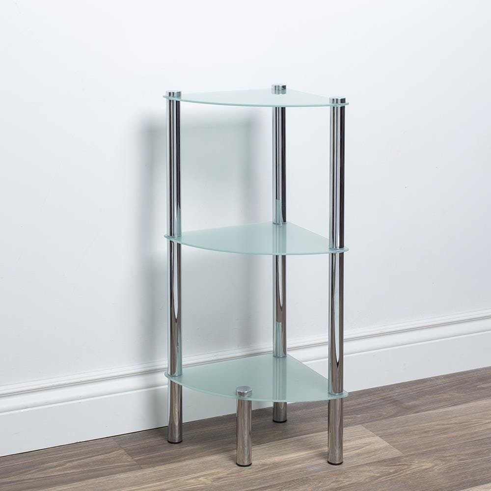 97286_ITY_Space_Logic_'3_Tier'_Glass_Shelf_Corner_Unit__Frosted_White