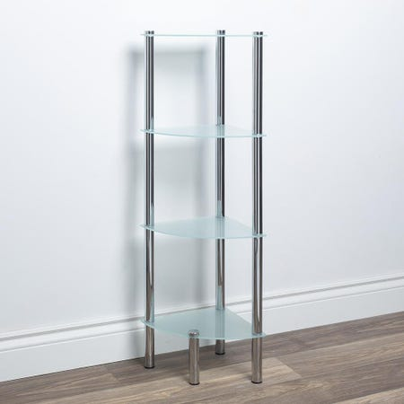97287_ITY_Space_Logic_'4_Tier'_Glass_Shelf_Corner_Unit__Frosted_White