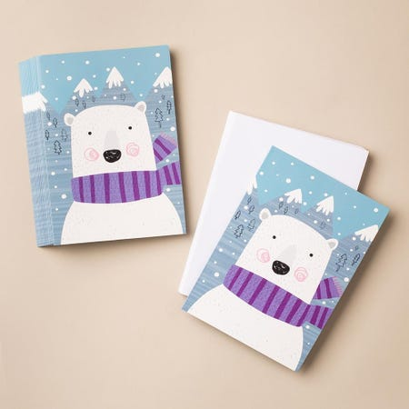 97303_Expressive_Design_Christmas_'Snow'_Card_and_Envelope___Set_of_18