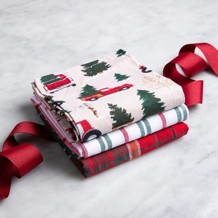 97304_Harman_Christmas_'Vintage'_Cotton_Kitchen_Towel___Set_of_3__Red