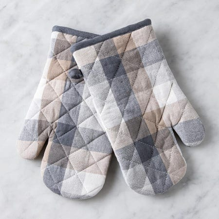 97324_Harman_Christmas_'Frosted_Check'_Cotton_Oven_Mitt___Set_of_2__Natural