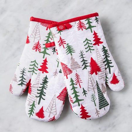 97326_Harman_Christmas_'Winter_Trees'_Cotton_Oven_Mitt___Set_of_2__Red