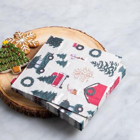 97339_Harman_Christmas_3_Ply_'Vintage'_Paper_Napkin__Multi_Colour