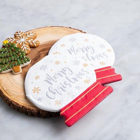 97341_Harman_Christmas_3_Ply_'Snow_Globe_Shaped'_Paper_Napkin