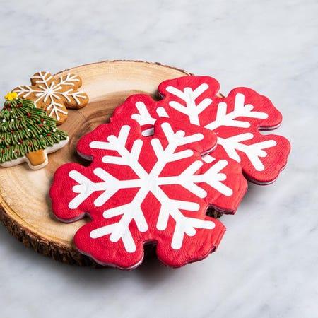 97344_Harman_Christmas_3_Ply_'Snow_Flake'_Paper_Napkin__Red