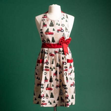 97356_Harman_Christmas_'Vintage'_Cotton_Apron__Red