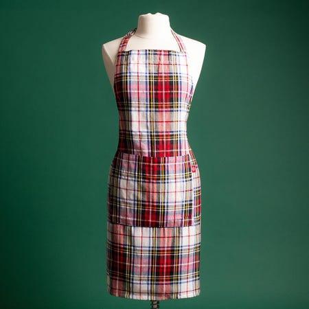 97358_Harman_Christmas_'Scottish_Plaid'_Cotton_Apron__Red