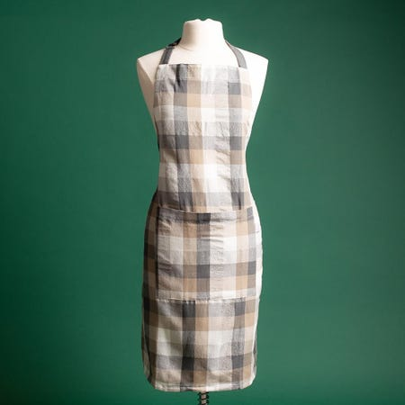 97359_Harman_Christmas_'Frosted_Check'_Cotton_Apron__Natural