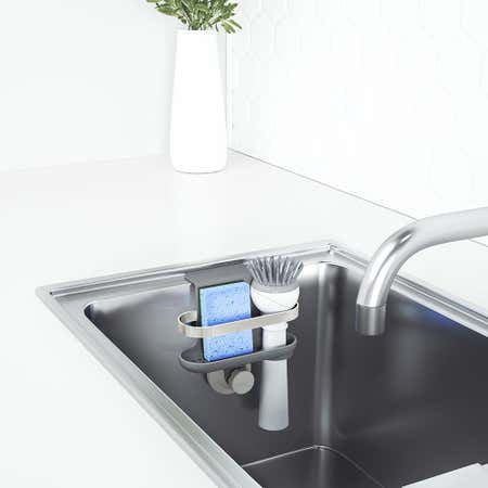 97366_Umbra_Holster_In_Sink_Sponge_Caddy__Brushed_Grey