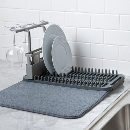 97369_Umbra_Udry_Microfibre_Drying_Mat_with_Rack__Charcoal