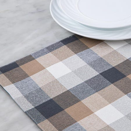 97376_Harman_Christmas_Frosted_Check_Cotton_Poly_Placemat__Multi_Colour