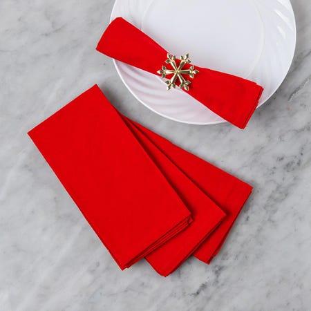 97385_Harman_Christmas_Solid_Napkin_Cotton_Napkin___Set_of_4__Red