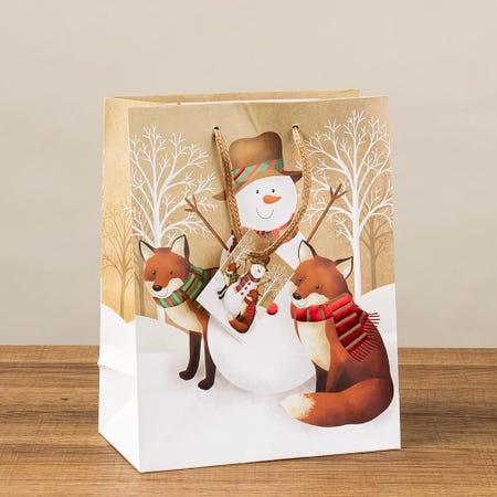 97400_Paper_Trendz_Christmas_'Kraft'_Paper_Gift_Bag___Medium