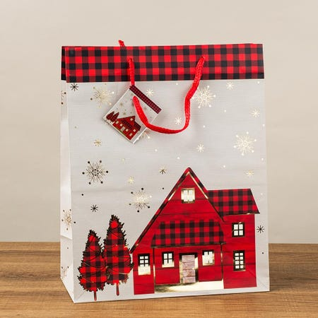 97402_Paper_Trendz_Christmas_'Buffalo_Plaid'_Paper_Gift_Bag___Large