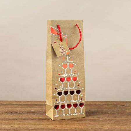 97409_Paper_Trendz_Christmas_'Hotstamp'_Paper_Gift_Bag___Bottle