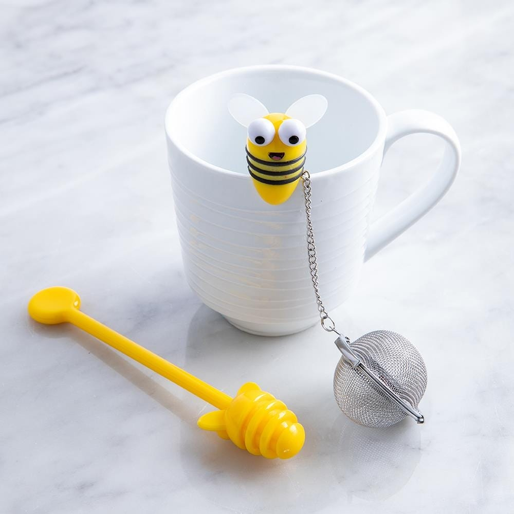 97472_Joie_Beehive_Tea_Infuser_with_Honey_Dipper__Multi_Colour