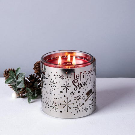 97533_Empire_Christmas_Tuscany_'Let_It_Snow'_Candle_Sleeve__Silver