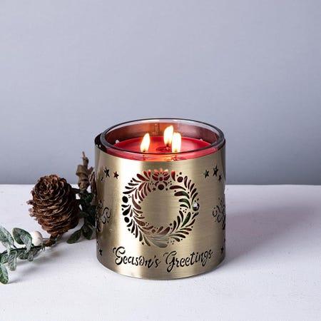97534_Empire_Christmas_Tuscany_'Season'S_Greetings'_Candle_Sleeve__Gold
