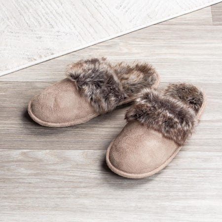 97580_Every_Sunday_Ultra_Soft_'Faux_Suede'_Memory_Foam_Slippers_Women__Taupe